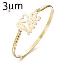 3UMeter Bracelet Bangle for Women Stainless Steel Bangle Love Bangle Letter Bangle Wide Adjustable Loves Heart classic heart letter a bracelet for women