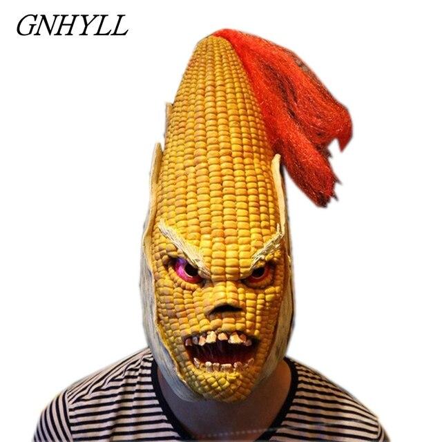 Angry Mr Old Corn, креативная маска для Хэллоуина, высококачественный желтый головной убор из кукурузы, вечерние украшения для Хэллоуина, вечерние товары для Хэллоуина &