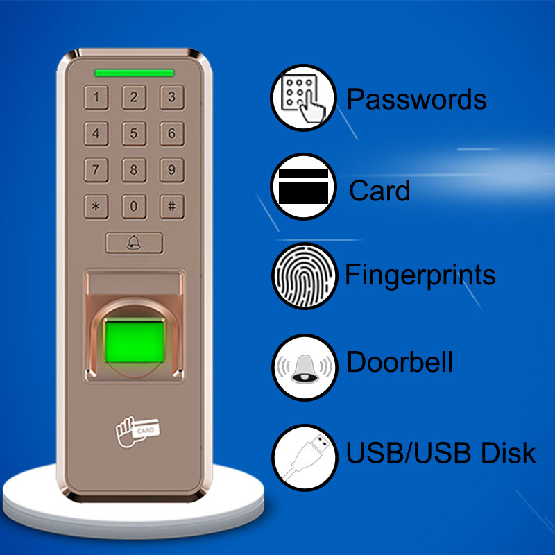 Biométrique d'empreintes digitales serrure de porte USB dispositif de contrôle d'accès horloge entrée sortie enregistreur employé numérique Machine sûre maison