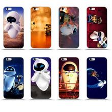Walle y Eve para iPhone 4X4 4S 5 5C SE 6 6 S 7 8 Plus Galaxy S5 S6 S7 S8 gran Core II primer alfa TPU cubierta de la caja del teléfono celular