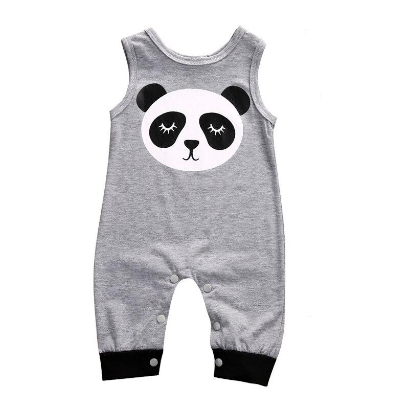 New Summer Infant baby boy clothes Cotton Newborn baby girl romper Cartoon Panda jumpsuits