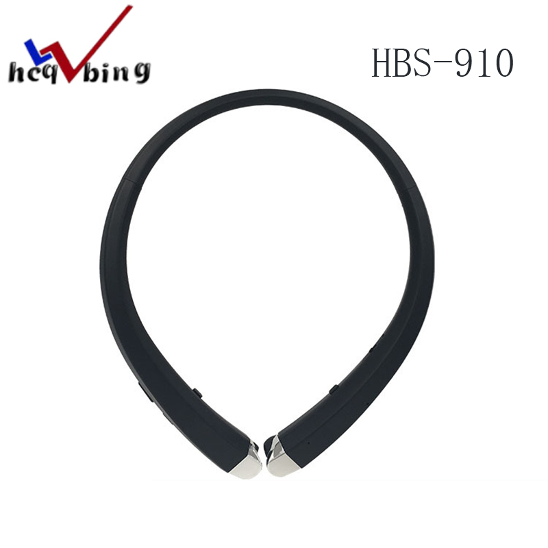 HCQWBING Original HBS 910 CSR Bluetooth 4.0 Headset HBS-910 Wireless Earphones With HD Sound for Apple iphone xiaomi Phone