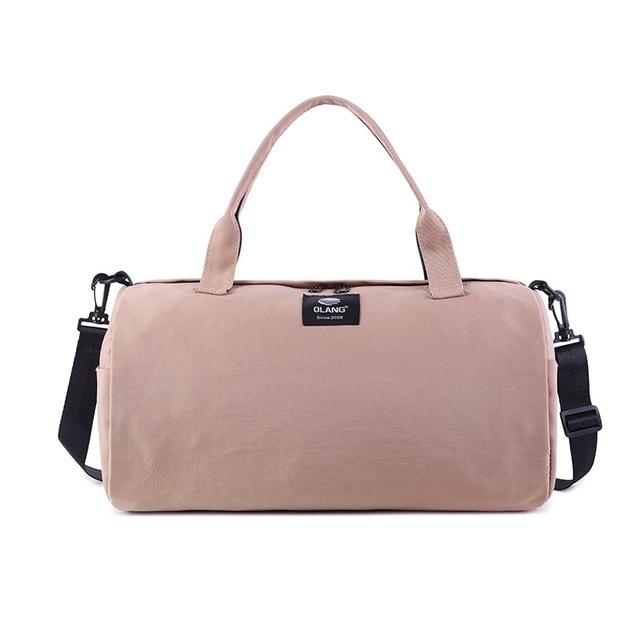 2019 Canvas Women's Travel Bags Yoga Gym Bag for Fitness Shoes Handbags Shoulder Crossbody Pouch Women Men Sac De Sport Pack
