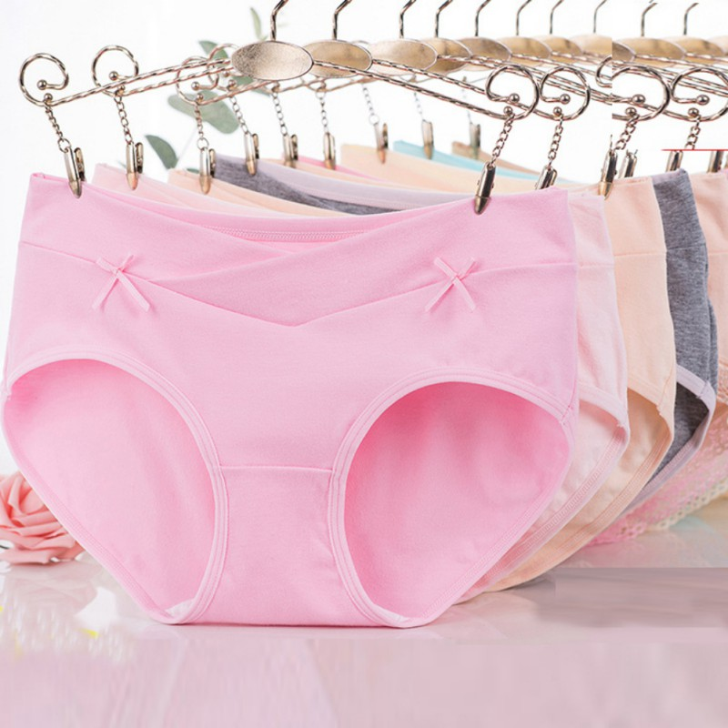 Women Low Rise Briefs Pregnant Female Solid Comfort Seamless Panties Widen Waist Hip Baby Care Underwear in women 39 s panties from Underwear amp Sleepwears