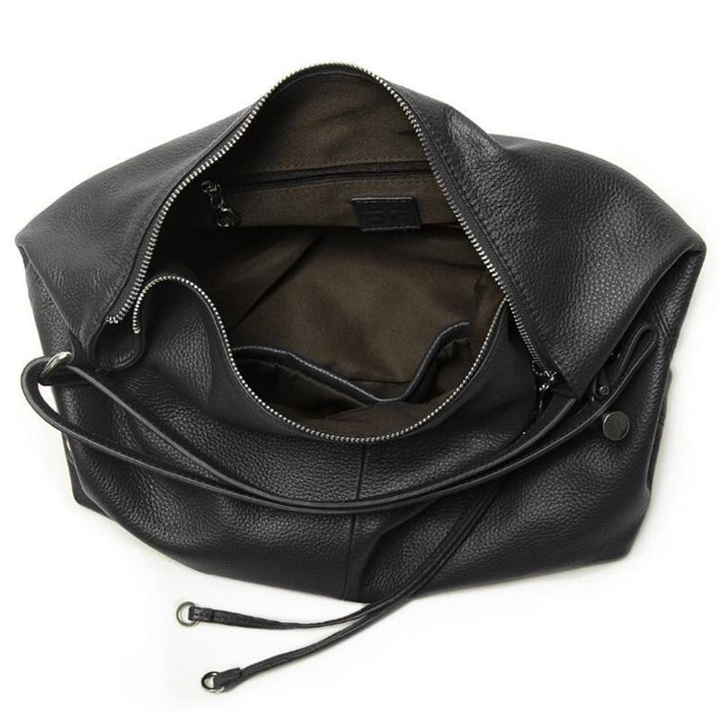 2018 neue Mode Weichen Reale Echtes Leder Quaste frauen Handtasche Damen OL Stil Schulter Tote Handtasche Schulranzen Schwarz - 3