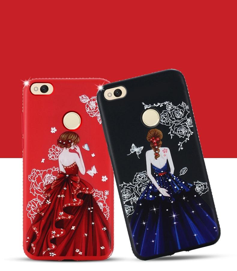Dress girl silicone case huawei p smart (5)