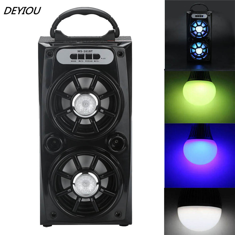 DEYIOU Multimedia Bluetooth Wireless Portable Speaker Super Bass with USB/TF/AUX/FM Radio Free Shipping NOM08