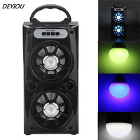 Best Price Multimedia Bluetooth Wireless Portable Speaker Super Bass With USB TF AUX FM Radio Free