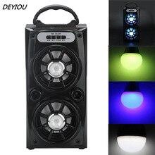 DEYIOU Multimedia Bluetooth Wireless Portable Speaker Super Bass with USB/TF/AUX/FM Radio Free Shipping NOM08