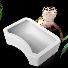 Кормушка для рептилий воды Еда кормления Пластик чаша 3 Размеры Черепаха Ящерица, змея бассейна
