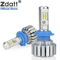 Zdatt 2Pcs Super Bright H7 Led Lamp Bulb 72W 7600Lm Car Led Headlights Canbus 6000K White