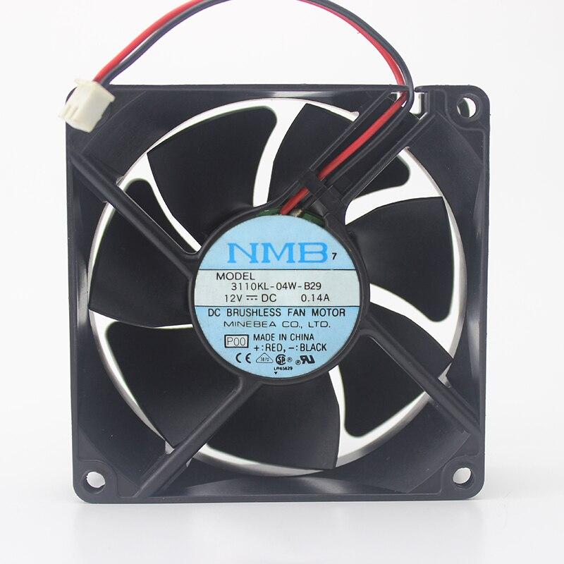 8025 8 cm 8 cm ventilador 12 V 0.14A 3110KL-04W-B29