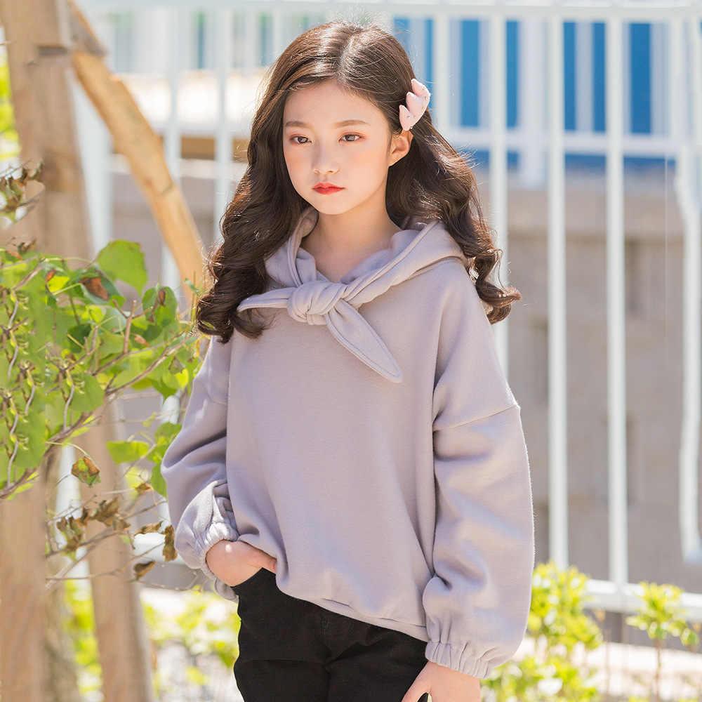 2019 New Year Kids Girls Outfits Girls Thick Hoodies Cute Kawaii Bunny Ears Designs Baby Girl Sweatshirts For 6 8 10 11 12 Years Hoodies Sweatshirts Aliexpress