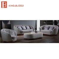 Гостиная комплекты классический кожаный диван с Кофе Таблица