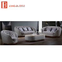 Living Room Sets Classic Leather Sofa with Coffee Table