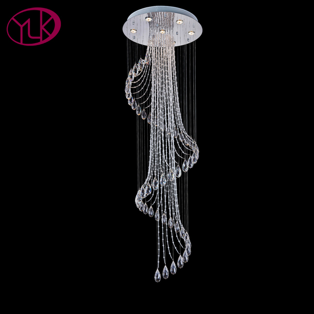 Youlaike spiral modern crystal chandelier for living room long flush youlaike spiral modern crystal chandelier for living room long flush mount chandeliers lighting cristal lustre led aloadofball Choice Image