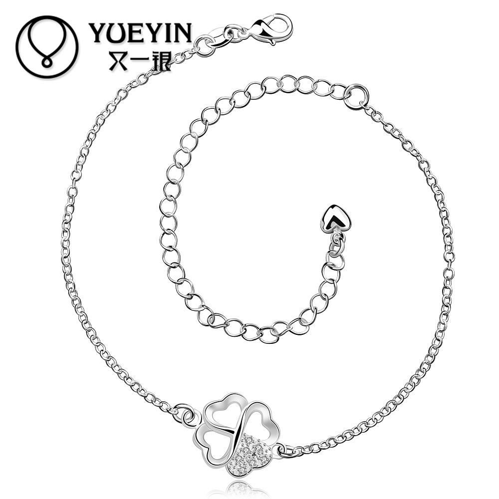 Free Shipping Unique Nice Sexy Simple Large Stock Delicate Handmade Cheap Silver Color Anklet Bulk Sale