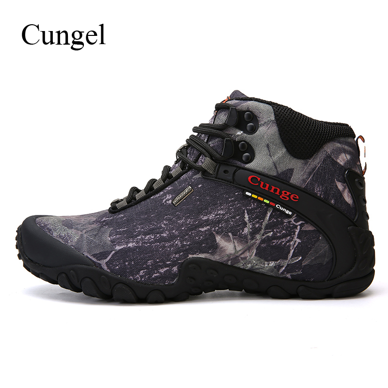 Cungel Outdoor Hiking boots Sneakers men Autumn/Winter Waterproof Camouflage shoes Anti-skid Mountain climbing Trekking boots