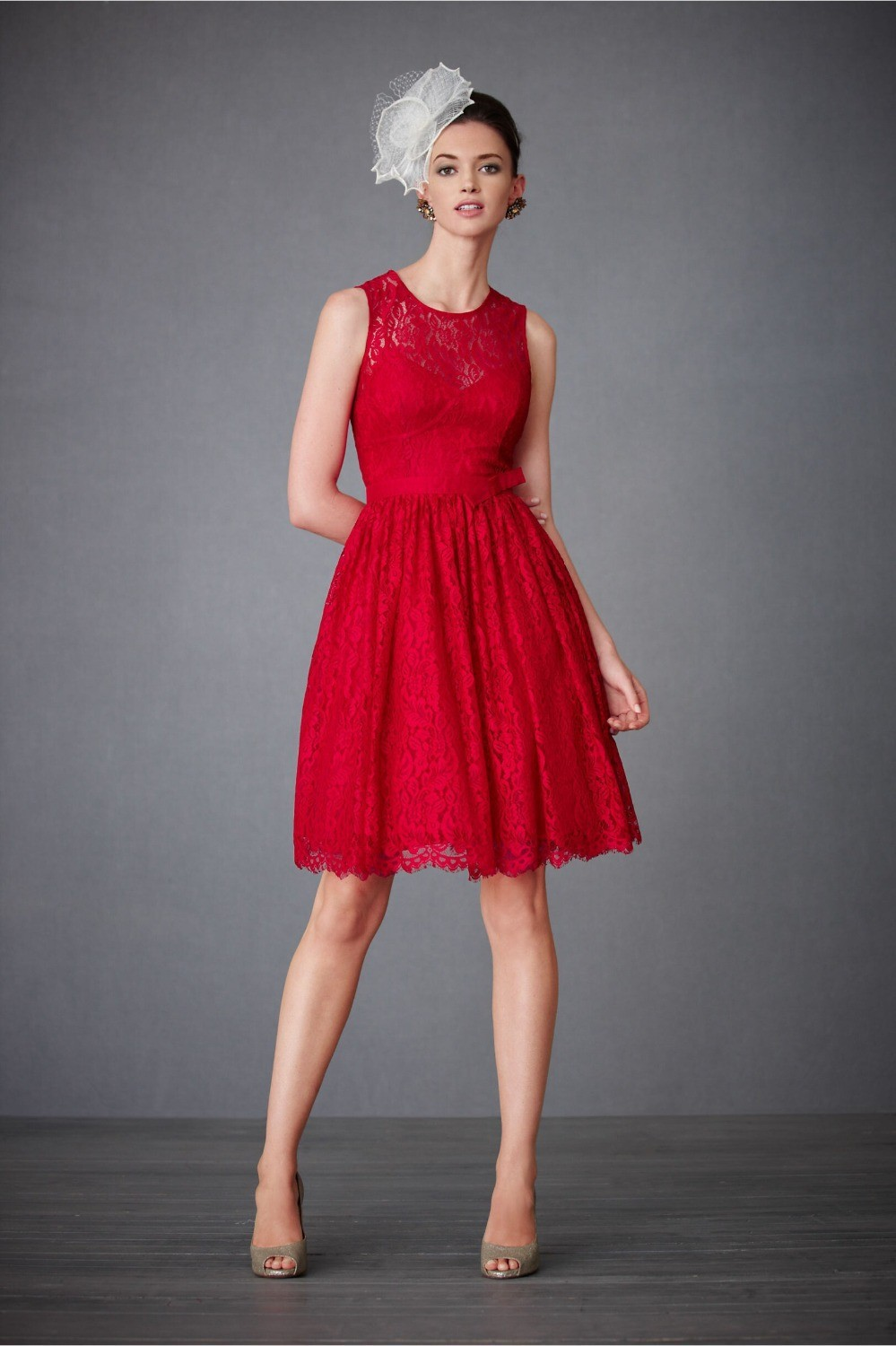 Online get cheap chiffon junior bridesmaid dresses aliexpress red lace short bridesmaid dresses vestdio de noiva curto 2015 custom made free shipping frm china ombrellifo Image collections