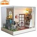 Кукольный дом мебель миниатюрный кукольный домик миниатюре diy кукольные домики деревянные игрушки ручной работы для детей подарок на день рождения Z-001