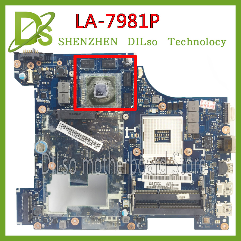 KEFU LA-7981P For Lenovo G580  QIWG5_G6_G9 LA-7981P REV:1.0 laptop motherboard 100% tested mainboard for lenovo laptop motherboard g570 piwg2 la 6753p hm65 ddr3 pga989 mainboard