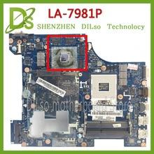 SHUOHU LA-7981P For Lenovo G580  QIWG5_G6_G9 LA-7981P REV:1.0 laptop motherboard 100% tested mainboard