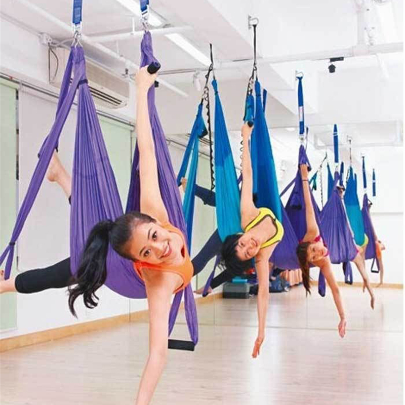 Medium image of high strength yoga hammock newest de pression anti gravity yoga hamac belts yoga gym swing hanging free shipping in yoga belts from sports  u0026 entertainment