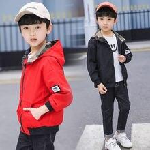 Trend Boys Hooded Jacket Teen Boy Camo Coat Fashion Kids Boy Camouflage Jacket Red Black Color Teenager Boys Hoodies Outerwear