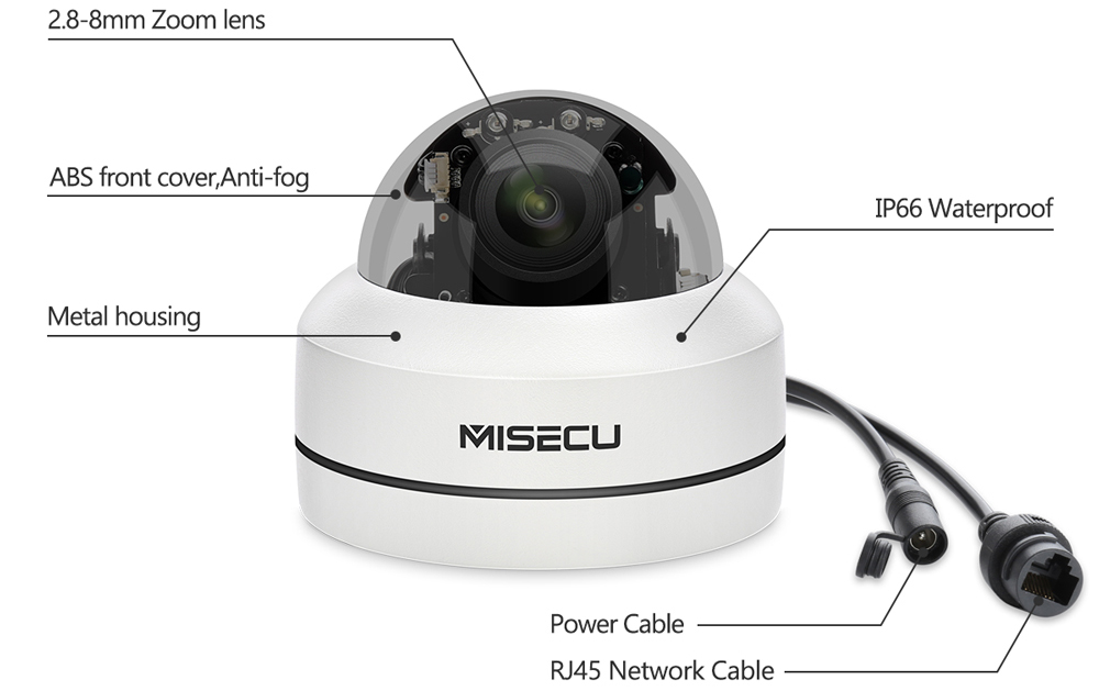 Image 5 - MISECU H.265 1080P PTZ IP Camera 4X Zoom Mini Speed Dome Metal Outdoor Waterproof 2MP POE CCTV Security Onvif P2P IR 40M Camera-in Surveillance Cameras from Security & Protection