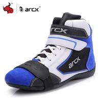 ARCX Moto bottes hommes Moto chaussures Moto bottes d'équitation respirant quatre saisons Moto cheville chaussures bleu Motocross botte #