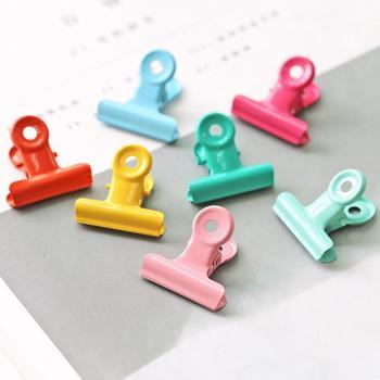 10 sztuk Binder klip papier biurowy ze stali nierdzewnej kolorowe metalowe klipsy rozmiary 28mm biuro szkolne materiały biurowe