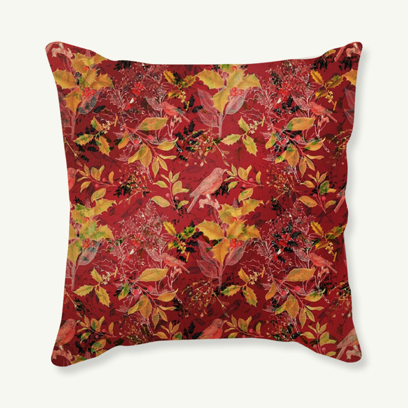 New Hot Selling Colorful Flowers and birds Cushion Cover Decorative Sofa Throw Pillow Car Chair Home Decor Pillow Case almofadas