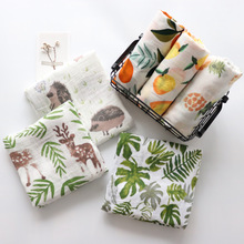 2Pcs Set Cotton Muslin Baby Blanket Swaddle Wrap For Newborns soft Baby Bedding Bath Towel Gauze Stroller Cover 115x115cm