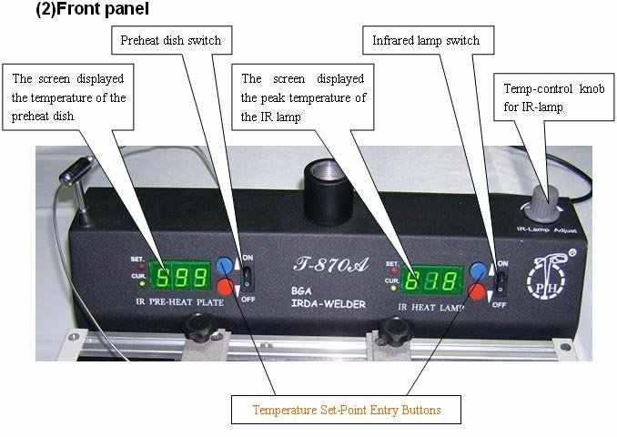 Ban đầu Được Ủy Quyền PUHUI T-870A BGA Xách Tay Làm Lại Ga IRDA Hàn Máy Hàn Hồng Ngoại SMART TECH SMD 1000W