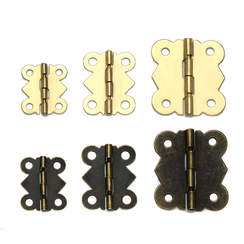 Retro Mini Miniature Jewel Box Casket Hinges 90 Degree Small Hinge 20pcs
