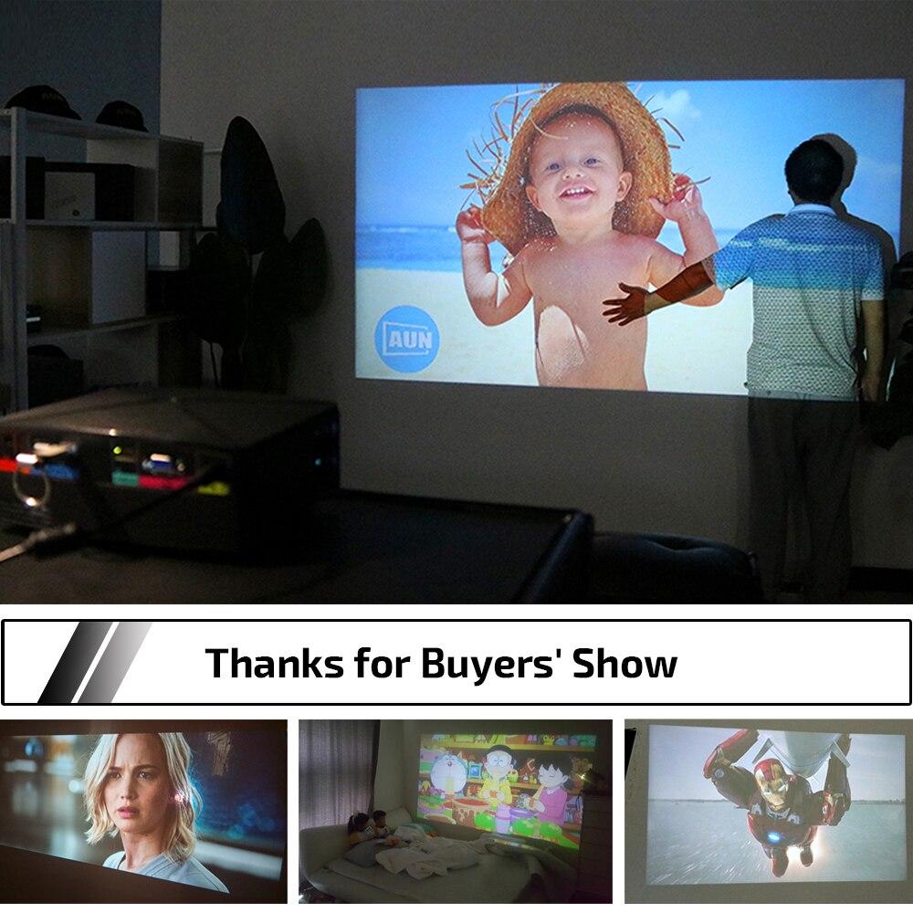 AUN MINI Projecteur C80 UP, Résolution 1280x720, Android WIFI Projuecteur, LED Portable HD Projecteur Pour Home Cinema, Optionnel C80 - 6