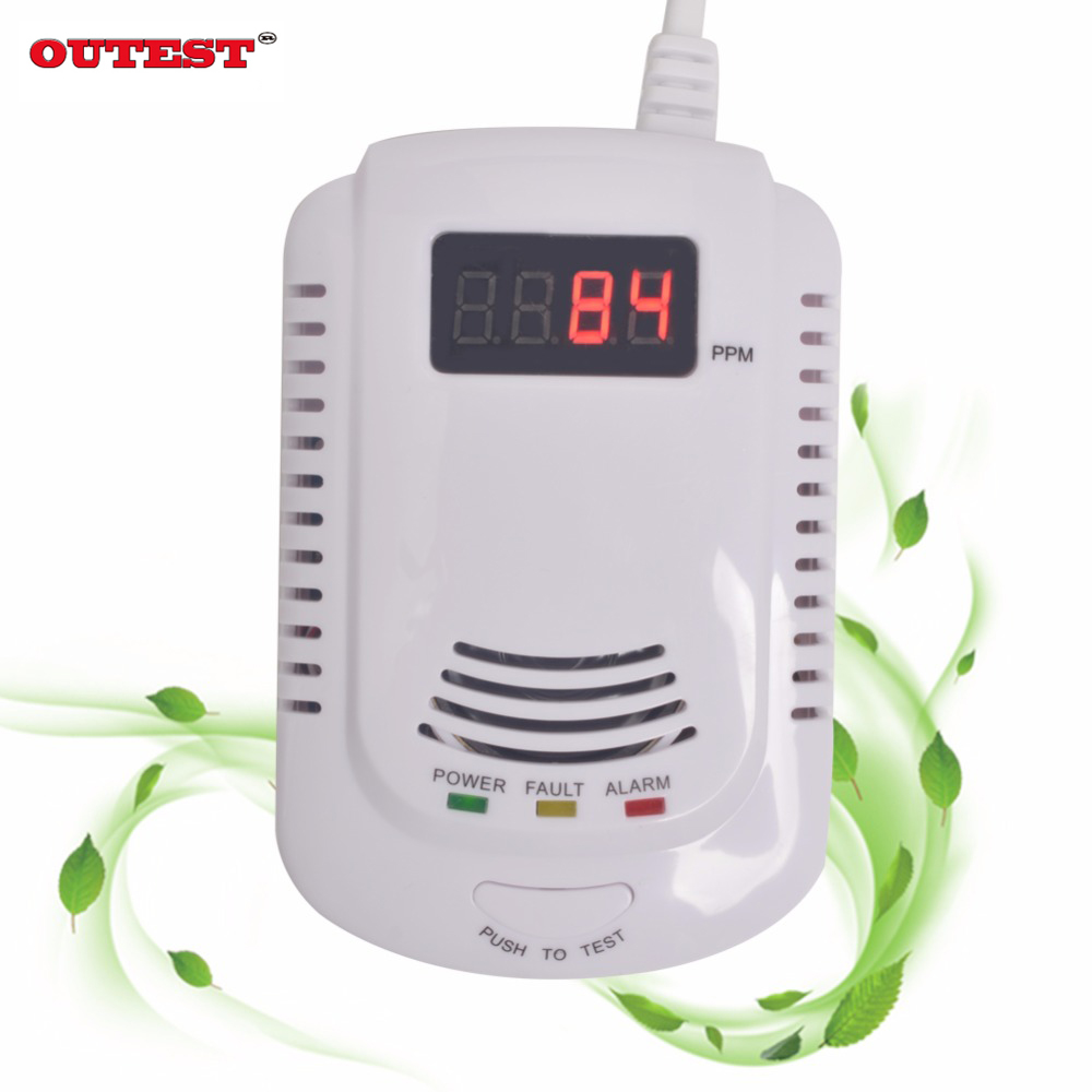 New Home Standalone Plug-In Combustible Gas Detector LPG LNG Coal Natural Gas Leak Alarm Sensor With Voice Warning Alarm Sensor