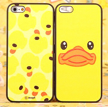 For apple 5 phone case for iphone 5 protective case skinning scrub cartoon shell set duck