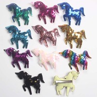100 unids/lote lentejuelas unicornios arco con pinzas de cocodrilo Arco Iris unicornio princesa accesorios para el cabello niñas horquillas Barrette
