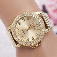 Nova famosa marca de Moda Relógios Em Aço Inoxidável Mulheres Relógio De Cristal De Luxo Senhoras Casuais relógio de Quartzo relógio de Pulso Relogios Feminino