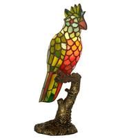Retro Animal Bird Parrot Tiffanylamp LED Bulb Night Light Adult Bedroom Decorative,Novelty Table Lamp Baby Kids Room Lighting