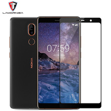 Lamorniea Tempered Glass For Nokia 7 Plus 2.5D Full Cover Screen Protector For Nokia 7 Protective Glass Film For Nokia7 Plus