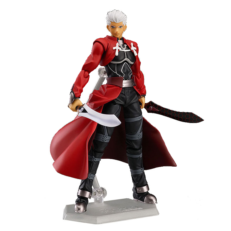 Anime figma 223 Fate/stay night Archer PVC Action Figure Collectible Model Toy 15cm KT2278 metal gear solid action figure sons of liberty figma 298 soldier pvc toy 16cm anime games figures snake collectible model doll
