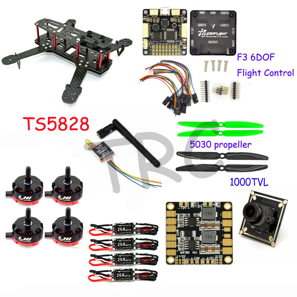 все цены на RC plane 250 mm Carbon Fiber Mini Quadcopter Frame F3 6DOF Flight Controller LHI RS2205 2300KV Motor онлайн