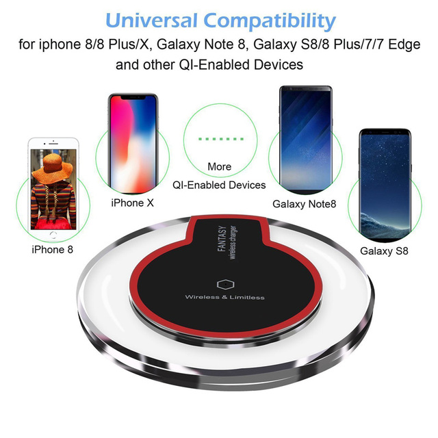 Wireless Crystal Round Charging Pad for iPhone & Samsung Galaxy 4