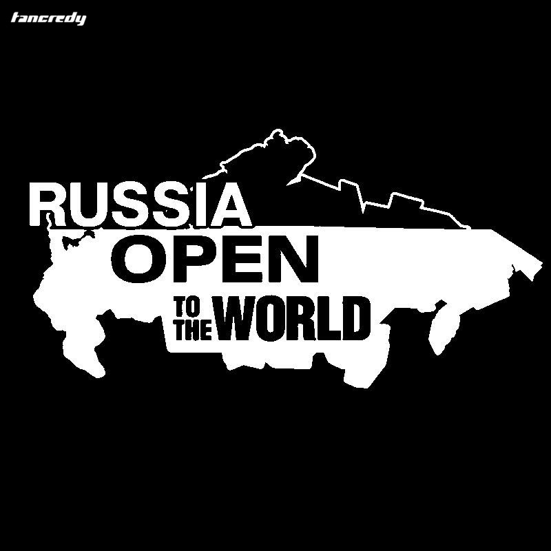 3d funny russia open to the world car stickers 23 512cm cool motorcycle decals vinyl home car body window sticker car styling in car stickers from