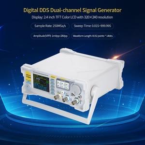 Image 5 - KKmoon גבוהה דיוק DDS 20MHz דיגיטלי כפול ערוץ אות דופק גנרטור 250MSa/s מד תדר פונקצית גנרטור