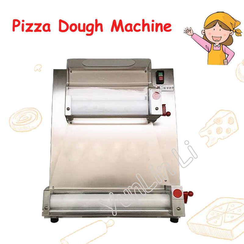 220V 3-15 Inch Pizza Dough Machine 370W Stainless Steel Pizza Bottom Press Machine Commercial Pizza Maker Easy to Operate DR-1V commercial used easy operation kono pizza cone making machine 2400w umbrella cone pizza 110v 220v stainless steel material