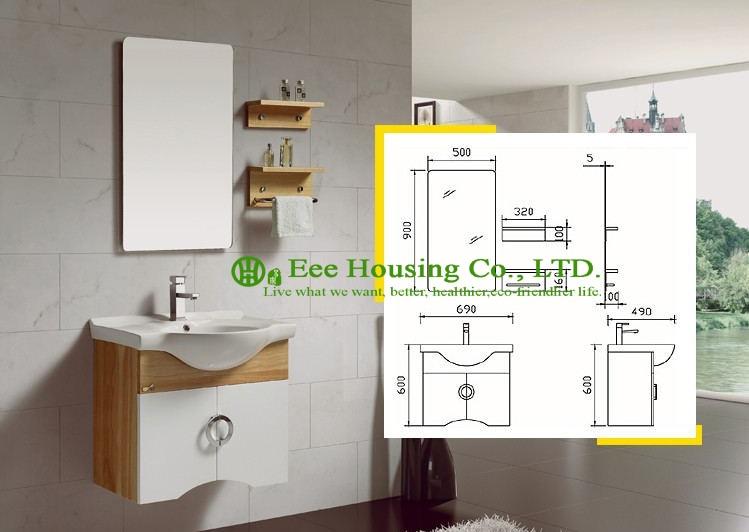 Badkamermeubel beste prijs groothandel mable oppervlak badkamer goedkope make vanity tafel, verlichte make upspiegel, side kast - 2