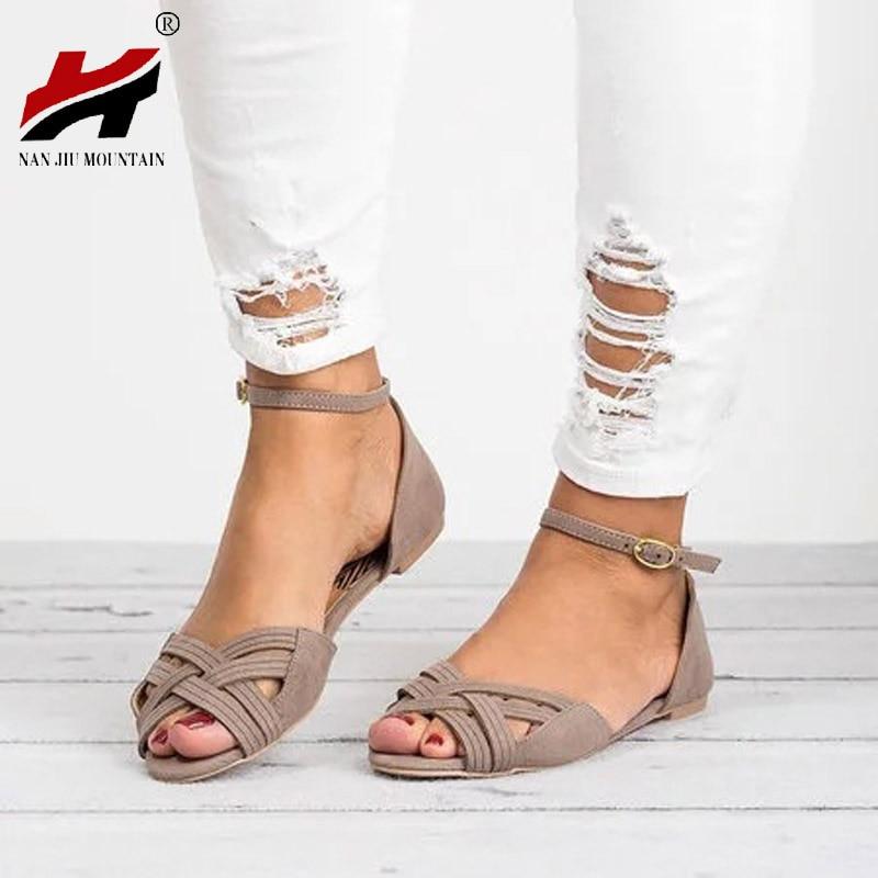 ced45ee5d483 ... Women Sandals Sapato Feminino Summer Style. US  10.66. NAN JIU MOUNTAIN  2018 Summer New Shoes Woman Open toe One-Strap Belt Wraps Cross